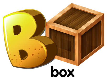 prefabricated: An image with a letter B for box on a white background