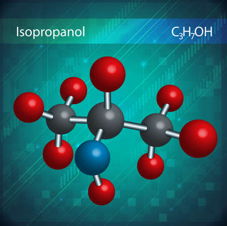 masses: An image showing the isopropanol molecules
