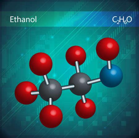 solvant: Une image montrant les mol�cules d'�thanol