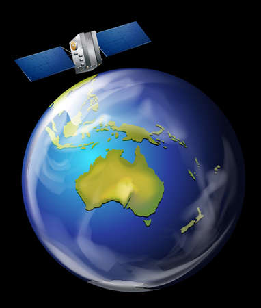 artificial satellite: An artificial satellite orbiting Earth