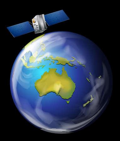 artificial satellite: An artificial satellite orbiting Earth
