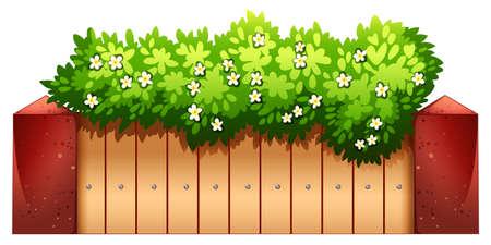houseplant: A green houseplant on a white background Illustration