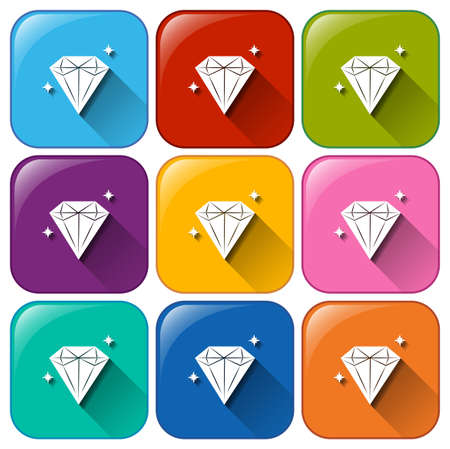 priced: Icons with diamonds on a white background