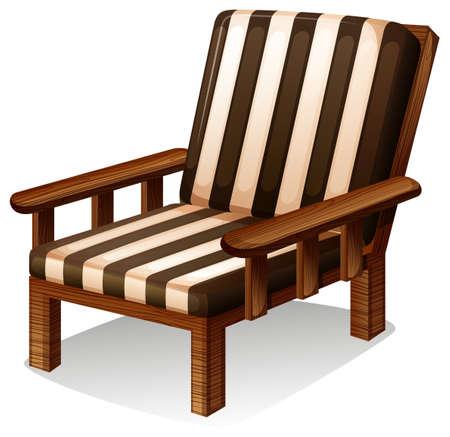ergonomie: Ein Holzstuhl M�bel auf wei�em Hintergrund
