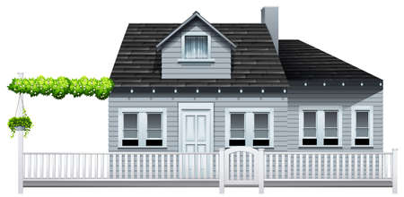gated: A gated house on a white background