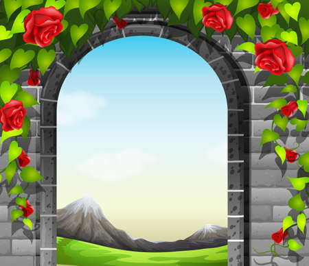 stonewall: A stonewall with roses