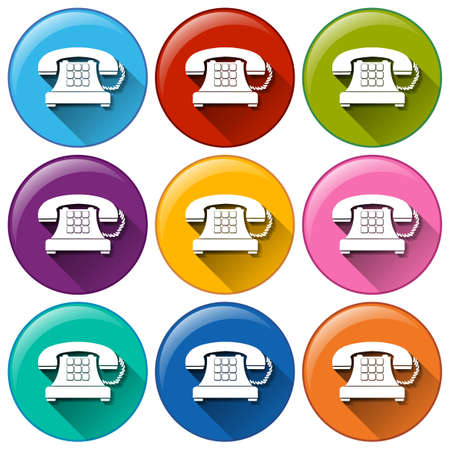 Telephone buttons on a white background Illustration