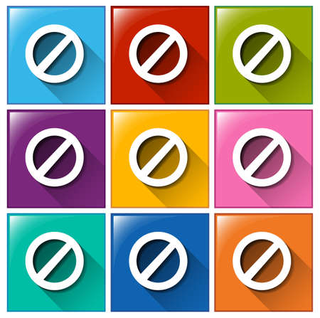 Icons with locked signs on a white background Vector