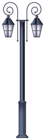 lamp posts: A lamp post template on a white background