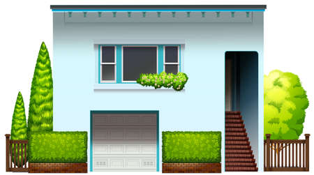 resident: A modern house on a white background