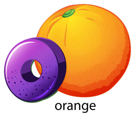 capitalized: A letter O for orange on a white background