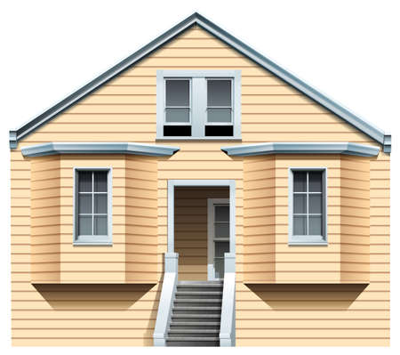 residents: A big old house on a white background