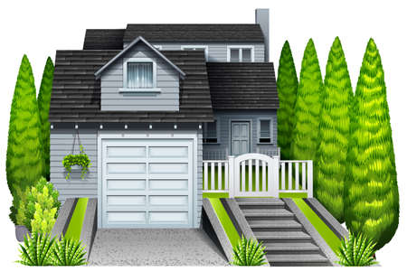 An elegant house on a white background Vector