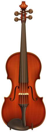 violin: A violin on a white background Illustration