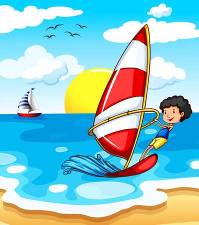 wavelengths: A teenager enjoying the beach