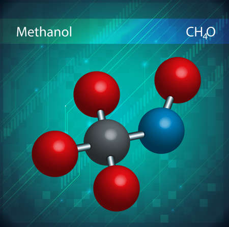 methyl: An image showing the Methanol formula Illustration