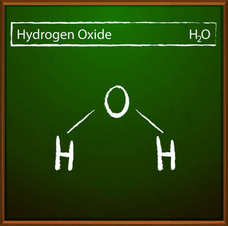 oxide: A board with the hydrogen oxide formula