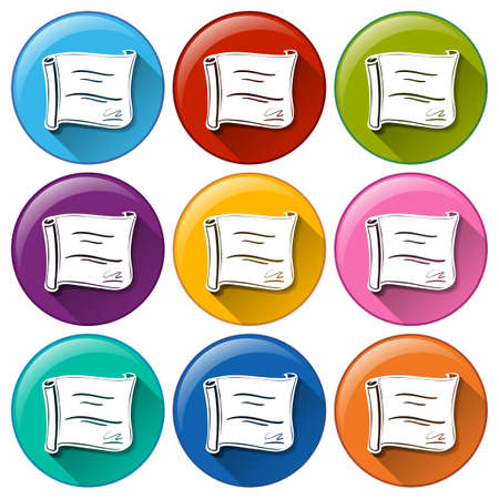 awarding: Buttons with certificates on a white background