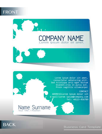 surname: Business card template on a white background