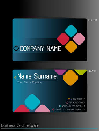 business card: A business card template