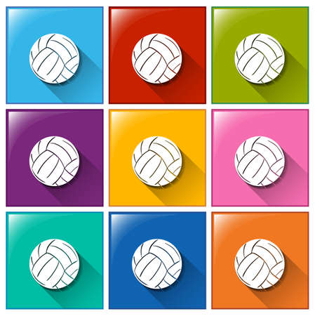 ovoid: Buttons with soccer balls on a white background Illustration