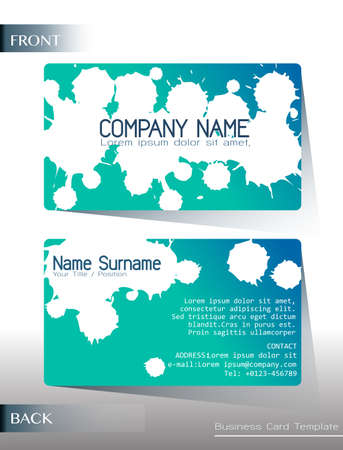 surname: A calling card design on a white background