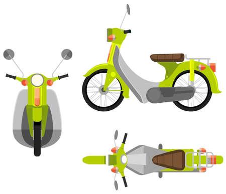 cenital: Ilustraci�n de vista diferente de una motocicleta