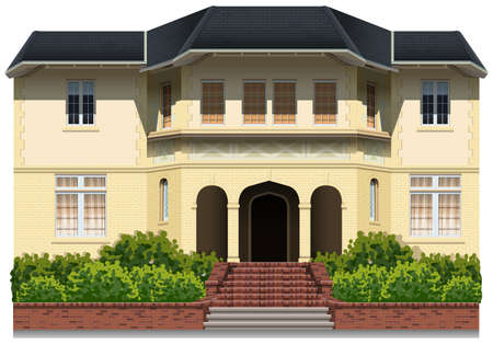 modern house: Illustration of an elegance house