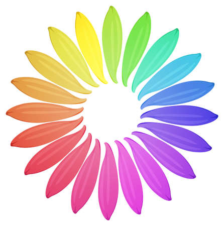corolla: Illustration of different color petals Illustration