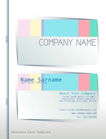 Illustration of a back and front of a business card Vector
