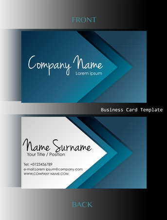 A front and back business card template