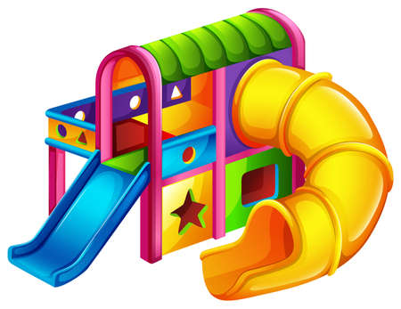 A colourful slide on a white background
