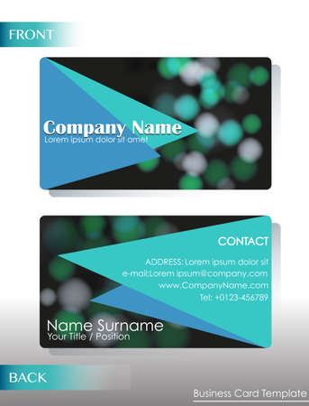 A company contact card on a white background Illustration