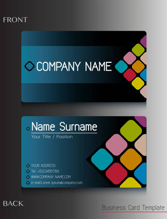 business cards: A business card design