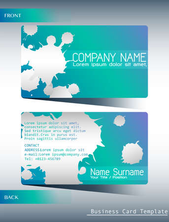 smart card: Template of business card both front and back view Illustration