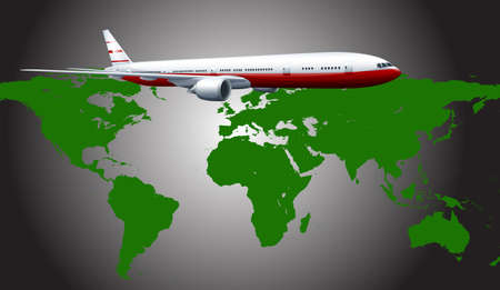 passanger: Aeroplane flying across the countries