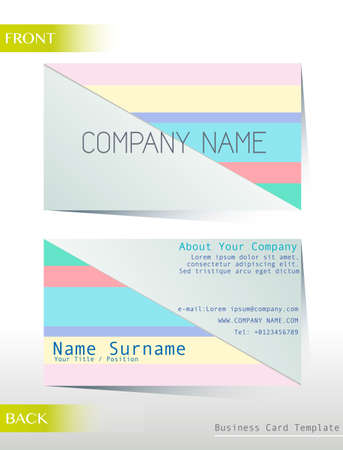 both: Template of business card both front and back view Illustration