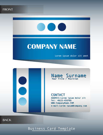 laminated: A blue and grey calling card template