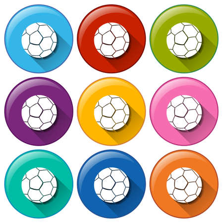ovoid: Buttons with balls on a white background