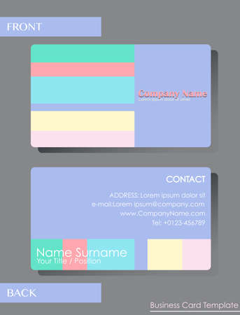 A colourful calling card template Vector