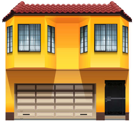 Illustration of a two-stories house Vector