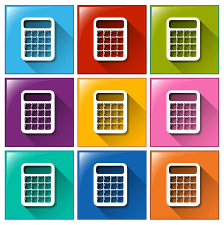 Buttons with calculators on a white background Vector
