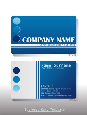 Illustration of a front and back view of a business card Vector