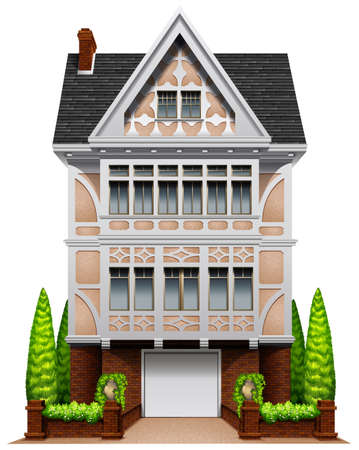 close up chimney: Illustration of a single house