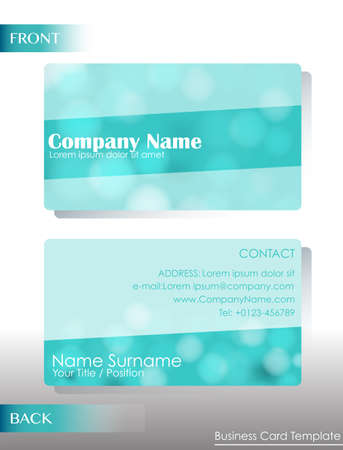 A light colored business card on a white background Vector