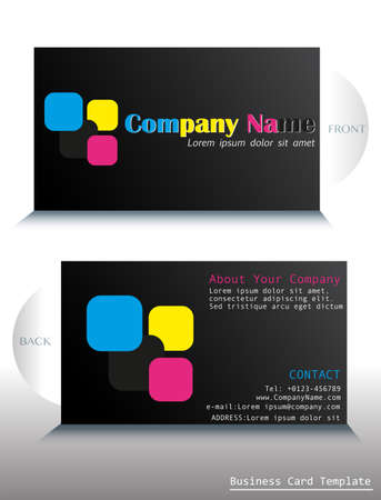 A card template with a colorful fontstyle Vector