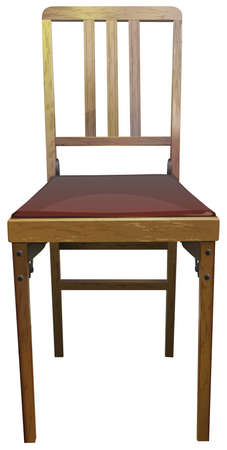 chair wooden: Illustration of a close up wooden chair