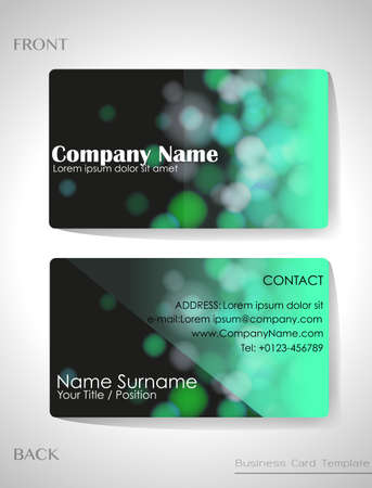 A gradient colored business card template Vector