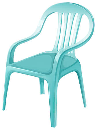 A plastic chair furniture on a white background Иллюстрация