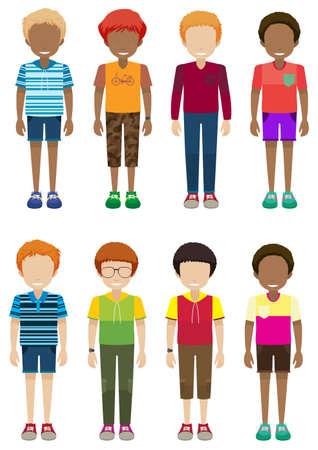 Illustration des garçons sans visage